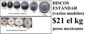 discos de fundicion para pesas