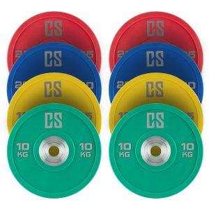 discos de pesas de goma