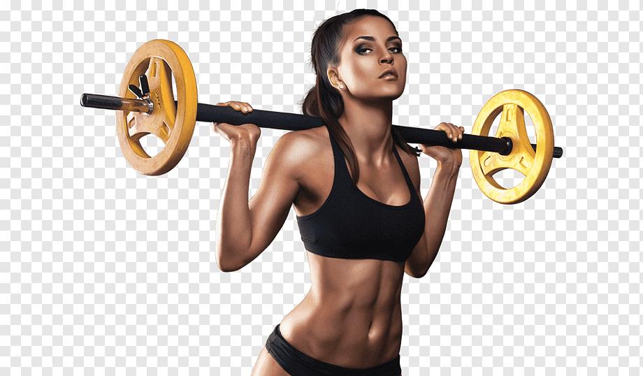 pesas mujer amarillas fitness